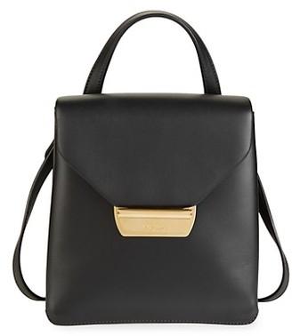 Prada Logo Leather Backpack