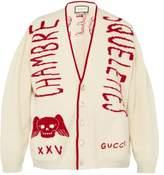 Gucci - Chambre Skull Wool Varsity Cardigan - Mens - Red White