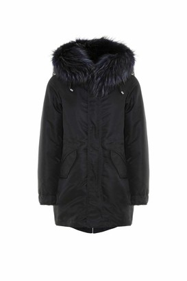 Mr & Mrs Italy New York Light Parka Midi For Woman With Raccoon Fur