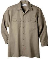 Dickies Men's Long Sleeve Heavyweight Cotton Work Shirt Tall