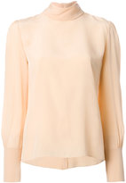 Chloé high neck blouse - women - Silk - 40