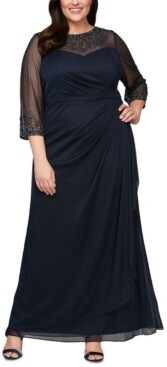 Alex Evenings Plus Size Embellished Sweetheart Gown