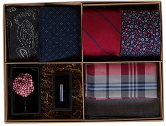 Tie Bar The Red And Navy Style Box Gift Set