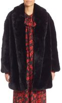 McQ Faux Fur Shawl Collar Coat