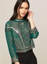 Miss Selfridge Premium sophie embellished blouse