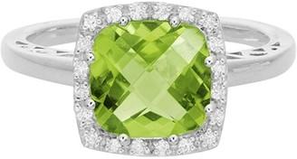 Diamond Select Cuts 14K 2.60 Ct. Tw. Diamond & Peridot Ring