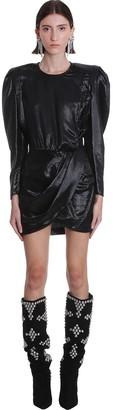 Isabel Marant Bagota Dress In Black Synthetic Fibers