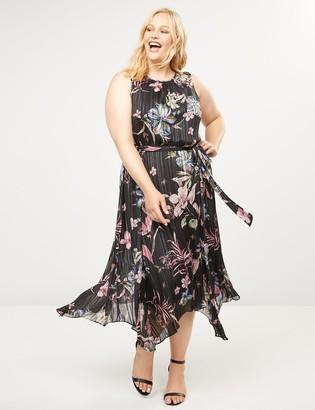 Lane Bryant Floral Fit & Flare Midi Dress