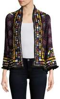 Raga Embellished Open-Front Jacket