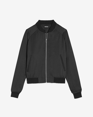 Express Satin Bomber Jacket