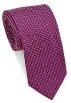 Brioni Geometric Tight Repeating Silk Tie