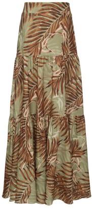 PatBO Palmeira Print Maxi Skirt