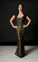 Daymor Couture - Gilded Applique Evening Gown and Bolero Jacket 514