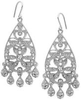 Nina Silver-Tone Swarovski Crystal Pavandeacute; Chandelier Earrings