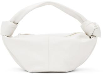 Bottega Veneta White Twist Pouch Bag