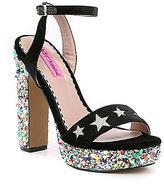 Betsey Johnson Kenna Stars Platform Dress Sandals