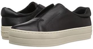J/Slides Heidi (Black Leather) Women's Shoes