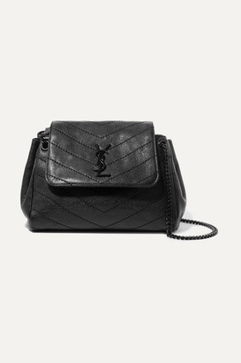 Saint Laurent Nolita Small Quilted Leather Shoulder Bag - Black