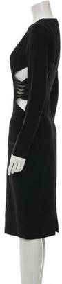 Aq/Aq Crew Neck Midi Length Dress w/ Tags Black Crew Neck Midi Length Dress w/ Tags