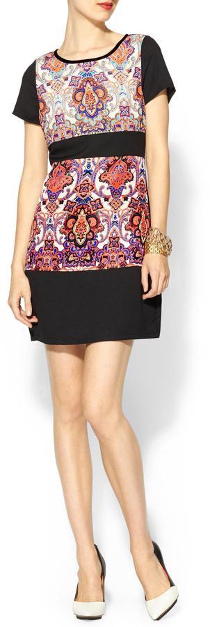 Pim + Larkin Print Mix Shift Dress