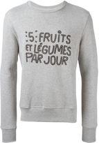 Ami Alexandre Mattiussi embroidered slogan sweatshirt