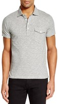 Todd Snyder Micro Stripe Slim Fit Polo Shirt