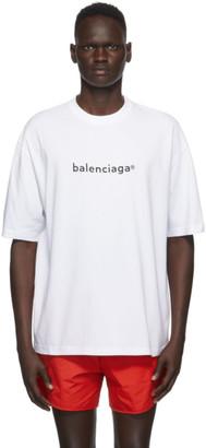 Balenciaga White New Copyright T-Shirt