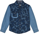 Stella McCartney Blue Camo Print Shirt