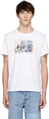 Helmut Lang White Carolee Schneemann Edition Jumping Print T-Shirt