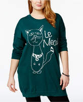 Melissa McCarthy SEVEN7 Plus Size Le Meow Sweater