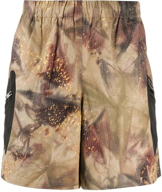 Misbhv Abstract-Print Track Shorts