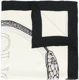 Gucci Ouroboros print silk scarf
