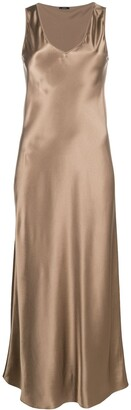 Joseph Silk Fitted Midi Dress