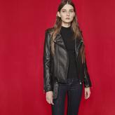 Maje Leather jacket with belt