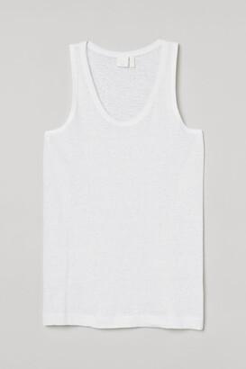 H&M Linen jersey vest top