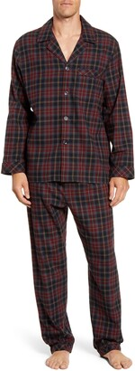 Majestic International Trimmings Plaid Cotton Flannel Pajamas