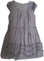 Suncoo Grey Silk Dress for Women