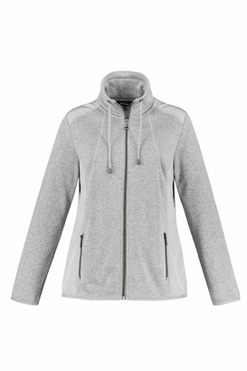 Ulla Popken Women's Fleece-Sweatjacke mit Schulter Patches Cardigan Sweater