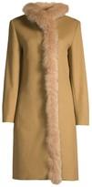 Cinzia Rocca Fox Fur Lined Wool Coat