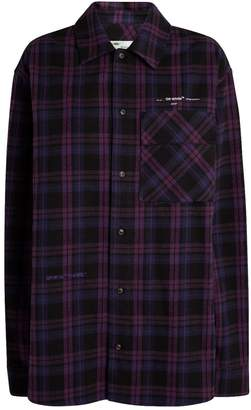 Off-White Off White Oversized Flannel Check Shirt