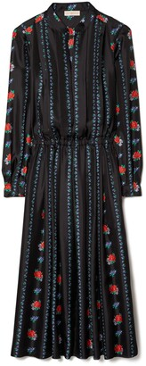 Tory Burch Printed Long-Sleeve Dress
