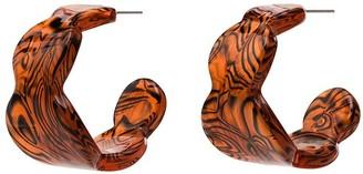 Valet Studio Lea open hoop earrings