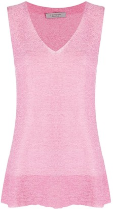 D-Exterior Metallized Knitted Tank Top