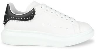 Alexander McQueen Studded Leather Low-Top Sneakers