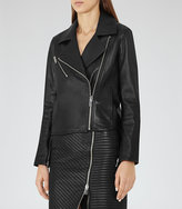 Reiss New Collection Brewer Leather Biker Jacket