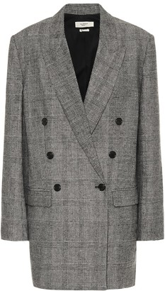 Etoile Isabel Marant Eagan checked flannel blazer