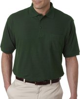 UltraClub Men's Whisper Pique Polo with Pocket 8544-3XL
