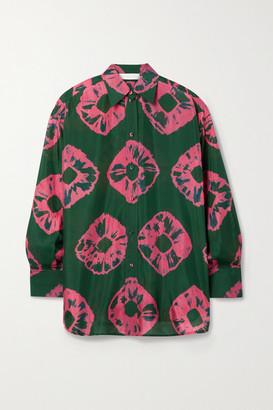 Zimmermann Poppy Tie-dyed Silk-habotai Shirt