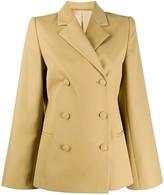 Totême wide sleeve double-breasted blazer