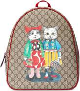Gucci Children's GG kitten friends backpack